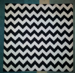 "Cushion Cover in Riley Blake Chevron Black White Stripe 14"" 16"" 18"" 20"""